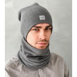 Man beanie for spring fall or winter BUBOO luxury - Dark grey