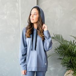 Woman stylish leisure jumper WOW, blue - indigo
