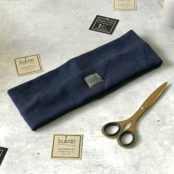 Man headband for fall, winter, spring SIMPLE from BUBOO luxury, Blue