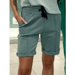 Female stylish leisure shorts BUBOO active, mint