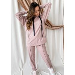 Female stylish leisure pants BUBOO active, ash rose