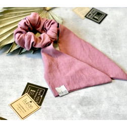 Hair band with detachable scarf ASH ROSE