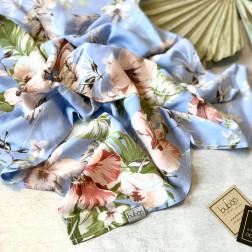 Woman's silk / viscose  scarf SKY FLOWERS