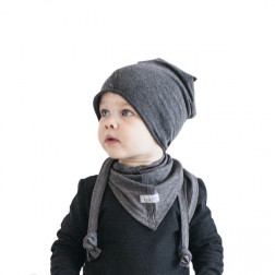 Kids thin stretchy cotton beanie UPSIDEDOWN - stump