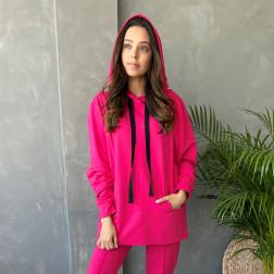 Woman stylish leisure jumper WOW, Watermelon