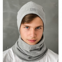 Kids beanie for fall winter spring BUBOO Luxury - Grey