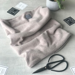 Kids snood scarf for fall, winter, spring BUBOO luxury - Latte
